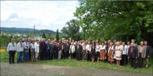 Учасники позачергового з'їзду гуцульських Товариств у Косові